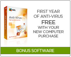 Purchase a new laptop or desktop and get your first year of ANTI-VIRUS for free